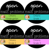 Ontario Primary Open Math Problems Bundle
