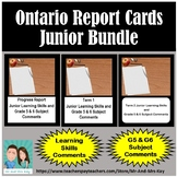 Ontario Report Card Bundle - Junior Learning Skills AND G5