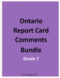 Ontario Report Card Comment Bundle (Grade 7)