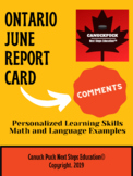 Ontario Term 2 Report Card Comments (EDITABLE and FULLY WRITTEN)