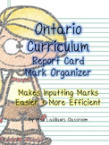 Ontario Report Card Mark Sheets for Easier Mark Entry incl. Learning Skills