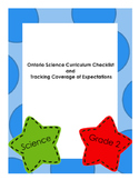 Ontario Science Checklist and Tracking of Expectations Gr 2