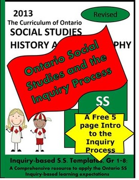 Ontario Social Studies and the Inquiry Process, Grades 1-8 FREEBIE SAMPLE