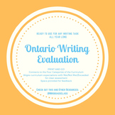 Ontario Writing Assessment or Evaluation