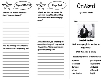 Onward Trifold - Journeys 6th Grade Unit 3 Week 3 (2011)