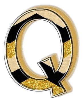 Onyx N' Gold Alphabets