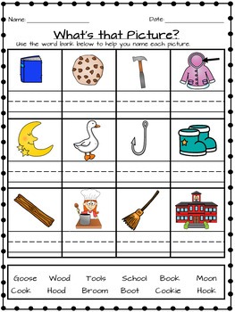Oo  (Double O) Worksheets