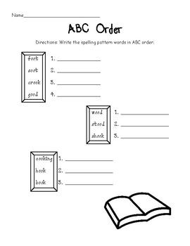 Oo as in Book Worksheet Packet