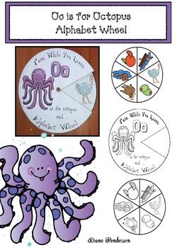 Oo is for Octopus Alphabet Wheel