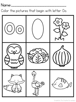 Letter O { Alphabet Practice }