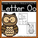 Letter Oo Worksheets   Kindergarten Alphabet Practice