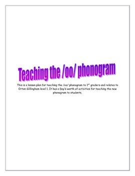 Oo phonogram zoo themed 1st grade lesson plan