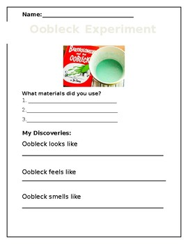 Oobleck Experiment!