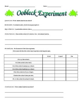 Oobleck Experiment
