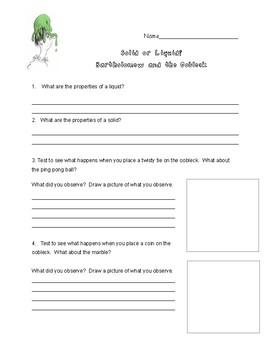 Oobleck Lab Worksheet