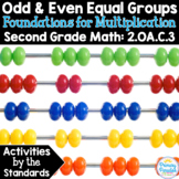 Odd & Even Equal Groups: 2.OA.C.3 Common Core Math