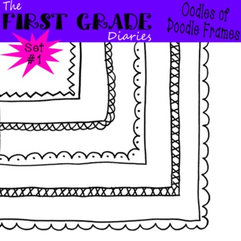 Oodles of Doodle Frames Set #1 {Digital Borders}