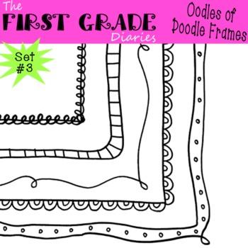 Oodles of Doodle Frames Set #3 {Digital Borders}