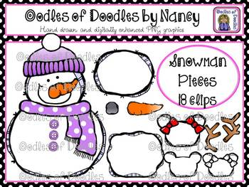 Oodles of Doodles: Build a Snowman and Snowgirl Clip Art Set
