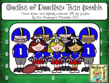 Oodles of Doodles Clip Art for Teachers: Football Team Freebie