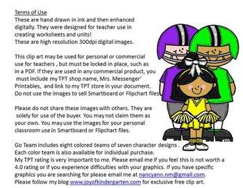 Oodles of Doodles Clip Art for Teachers: Football Teams