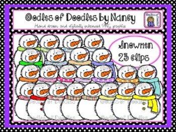 Oodles of Doodles: Colorful Snowmen Clip Art