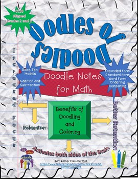 Oodles of Doodles, Doodle Notes for Math Grades 2-3
