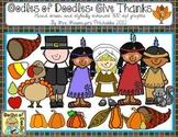 Oodles of Doodles: Give Thanks November Clip Art