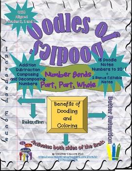 Oodles of Doodles Number Bonds to 20, Doodle Notes Bundle