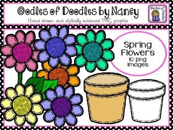 Oodles of Doodles: Spring Flowers, Snails and Turtles Clip Art
