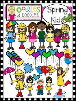 Oodles of Doodles: Spring Kids Clip Art