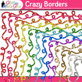 Crazy Border Clip Art {Rainbow Glitter Frames for Worksheets & Resources}