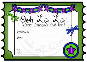 Ooh La La French Ticket Certificate