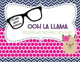 Ooh La Llama Positive Notes Home