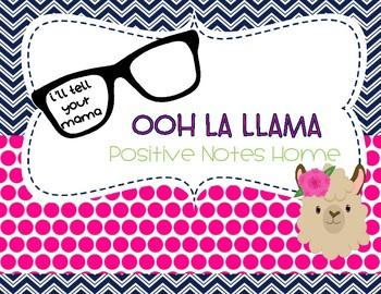 Ooh La Llama Positive Notes Home