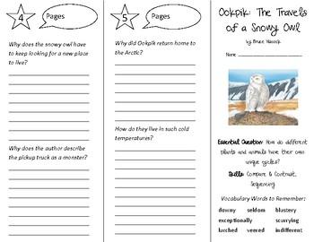 Ookpik Trifold - Open Court 5th Grade Unit 2 Lesson 3