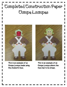 Oompa Loompa Writing Packet