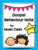 Ooops! Behaviour Note
