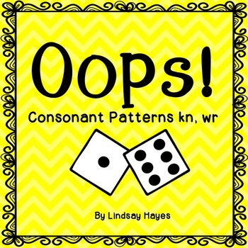 Oops: A Consonant Pattern kn, wr Game, Reading Street Unit 4, Week 4