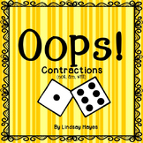 Oops: A Contractions (not, am, will) Game, Reading Street Unit 2, Week 4