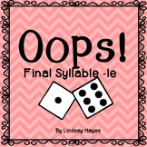 Oops: A Final Syllable -le Game, Reading Street Unit 5, Week 1