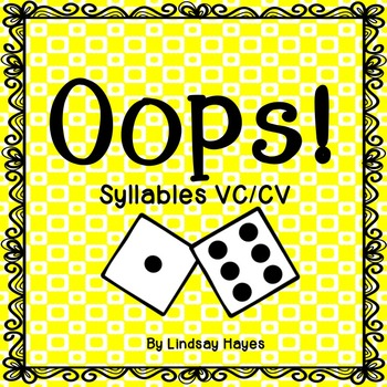 Oops: A Syllables VC/CV Game, Reading Street Unit 2, Week 6