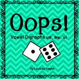 Oops: A Vowel Digraphs ue, ew, ui Game, Reading Street Unit 4, Week 5