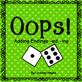 Oops: An Adding Endings -ed, -ing Game, Reading Street Unit 3, Week 4