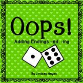 Oops: An Adding Endings -ed, -ing Game, Reading Street Unit 3, Week 4