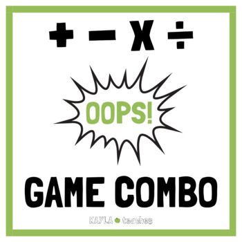 Oops! Card Game Bundle - Addition, Subtraction, Multiplication, and Division