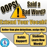 Oops! Extend Your Vocab!