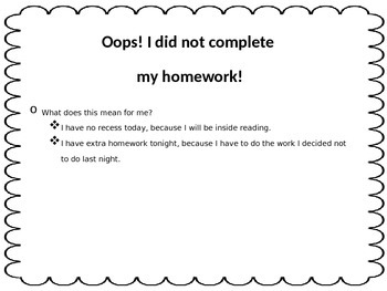 Oops! Forgot my Homework!