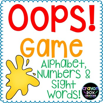 Oops! Game - Alphabet, Numbers & Sight Words