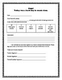 Oops! Sheet - Music Class Behavior Management